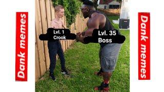 level 100 boss vs level 1 crook mafia city memes
