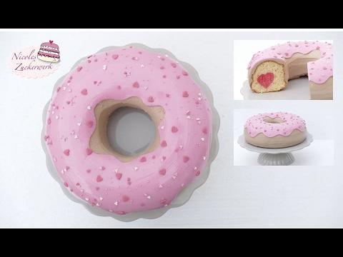Giant Donut Torte Zu Valentinstag Surprise Inside Cake Von
