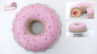 GIANT Donut Torte zu VALENTINSTAG | Surprise Inside Cake | von Nicoles Zuckerwerk