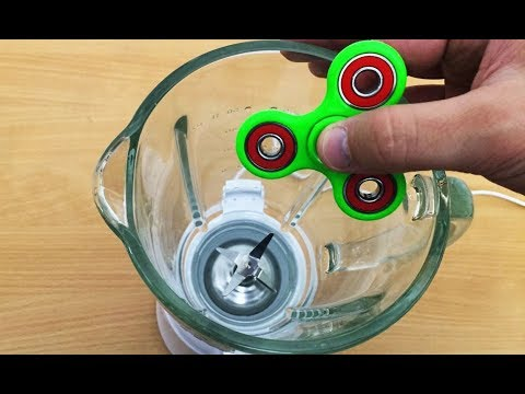 Thumbnail: EXPERIMENT BLENDER vs FIDGET SPINNER TOY (55,455 RPM)