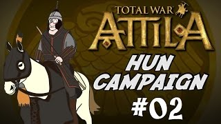Let's Play Total War: Attila Gameplay - Huns Campaign - Part 2 - A Large Siege!