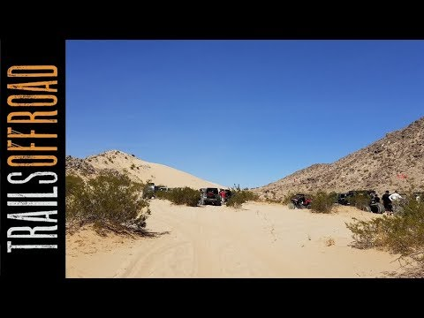 """Easy Off-Road Trail """"Road to Claw Hammer"""" and Sand Hill - Johnson Valley California in 4k"""
