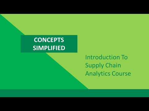 Introduction To Supply Chain Analytics Course