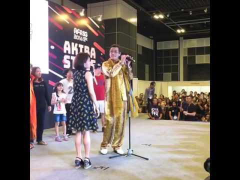 Japanese singer Piko-Taro performs at AFA Singapore