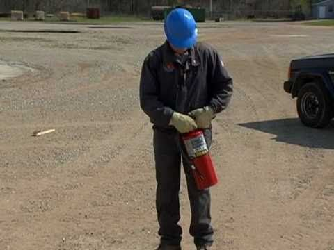 Dry Chemical - How to use a fire extinguisher  training