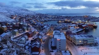 HonningsvÅg   The Northernmost Town In Europe [aerial Film]