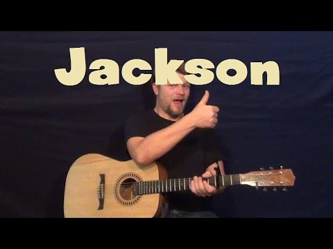 Jackson (JOHNNY CASH) Easy Strum Guitar Lesson How to Play Tutorial