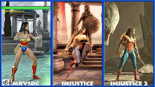 DC Universe MKVSDC Injustice WONDER WOMAN Graphic Evolution 2008-2017 | XBOX360 PS4 |