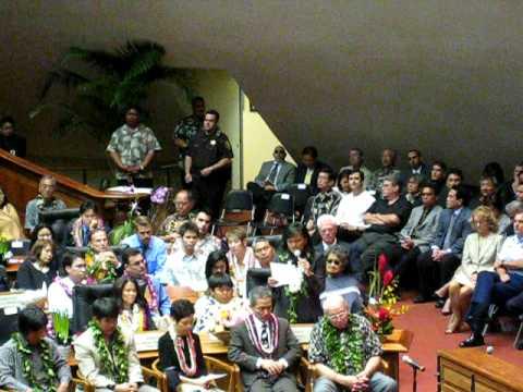Act 221, $1.4 billion, Rep. Lynn Finnegan, Opening Day Hawaii State Legislature, 2009