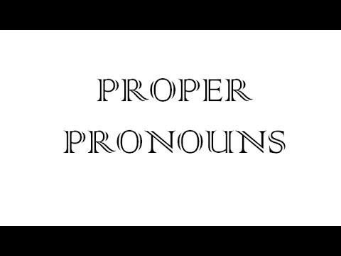 Proper Pronouns with Shawn - YouTube