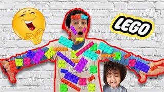 Lego Oyuncaklardan Kale Yaptık ليغو تعلق في وجه