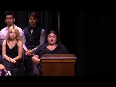 Perryton High School National Honor Society Induction 2020