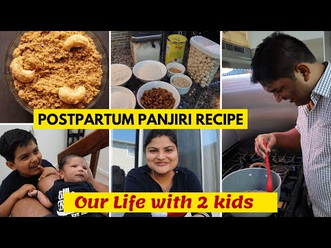 Our Current Life with 2 Kids~PostPartum Panjiri Recipe~ Indian Family Vlogger~ Real Homemaking Vlogs