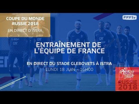 Lundi 18, Équipe de France : l'entraînement des Bleus en replay