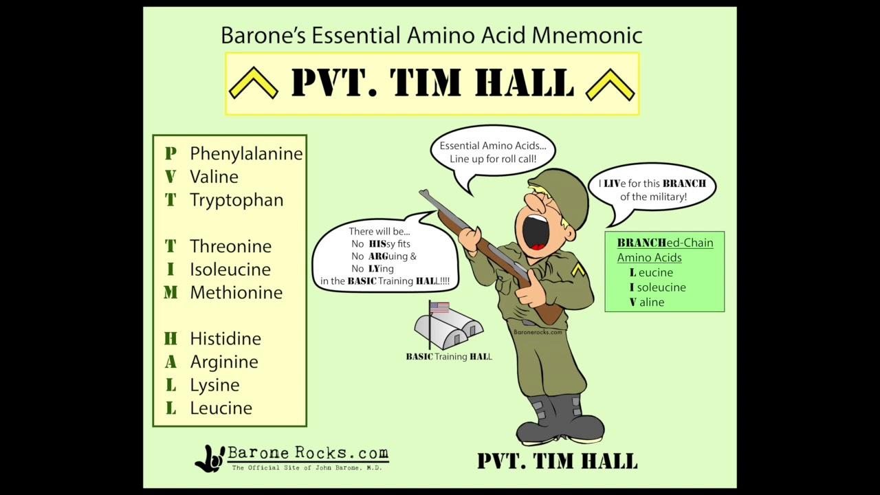 biochemistry essential amino acids mnemonic youtube