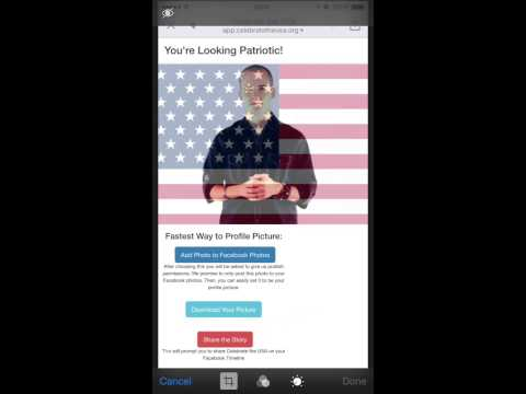 How to change Facebook profile to American Flag