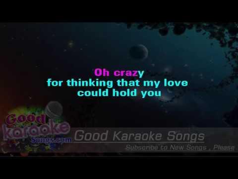 Crazy -  Patsy Cline (Lyrics Karaoke) [ goodkaraokesongs.com ]