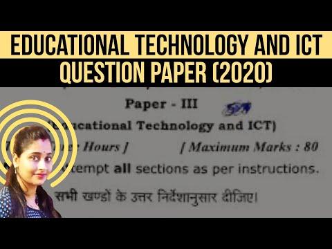 Dr.RMLAU B.Ed. ( First Year) Examination, 2020 Paper Third Educational Technology and ICT #EAdda