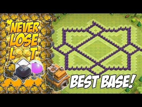 Th7 Hybrid Base Without Barbarian King Coc Youtube