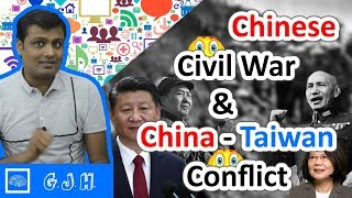 What is China - Taiwan conflict and Chinese Civil War with One-China policy 😳