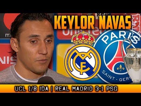 KEYLOR NAVAS post partido Real Madrid 3-1 PSG   Zona mixta Champions League (14/02/2018)
