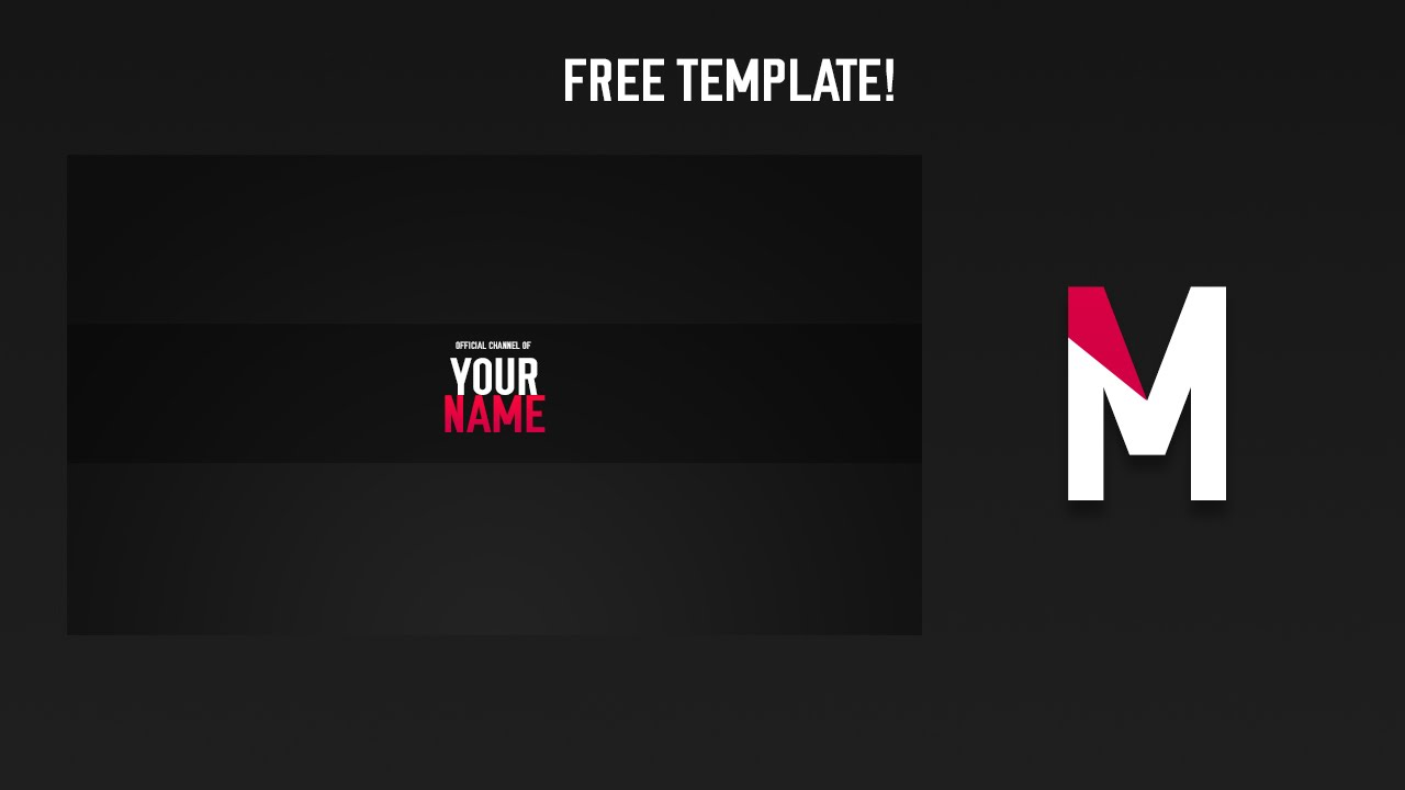 FREE FLAT BANNER AND LOGO TEMPLATE! - YouTube