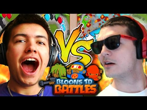 Bloons TD Battles | OMG THIS IS CRAZY! | Bloons Tower Defence Battles Vs NickAtNyte!