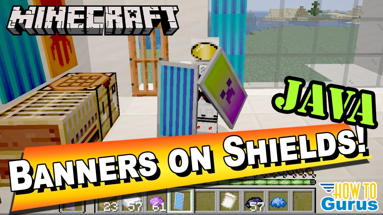 How To Put Banners On Shields In Minecraft Java - Shield Designs