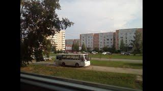 Автобусы, город Верхняя салда, съемка с подоконника