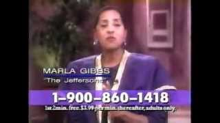 Marla Gibbs in A Psychic Hotline Commercial for Jackie Stallone from 1996