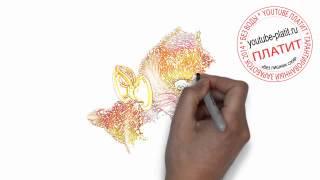 Нарисованный мультяшный кот  Как нарисовать красивого и умного котенка поэтапно карандашом