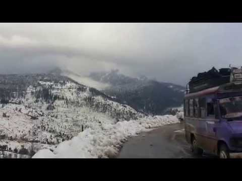 Jammu-Srinagar highway in winter(heavy snowfall)