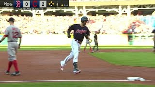 BOS@CLE Gm2: Chisenhall delivers a three-run home run
