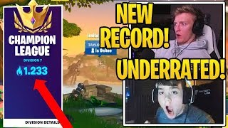 1250 Points Ranked ARENA MODE NEW *WORLD RECORD* (Fortnite)