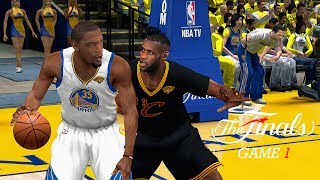 NBA 2K14 PC 2017 Finals Updated Rosters │Cavaliers vs Warriors│Game 1│ ESPN MOD HD