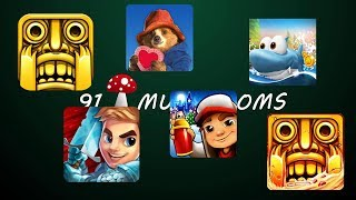Subway Surfers Vs Temple Run Vs Blades of Brim Vs Temple Run 2 Vs Run Fish Run Vs Paddington Run