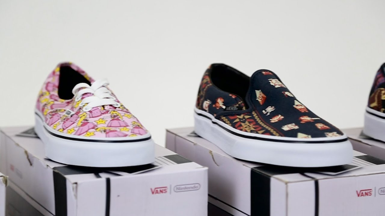 18a458d5b5 Unboxing the Vans x Nintendo Shoe Collection - YouTube