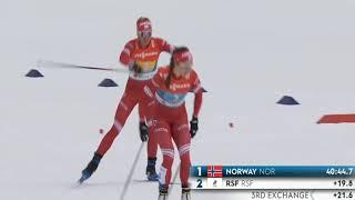 Сборная России СЕРЕБРО Лыжные гонки Женская эстафета Чемпионат мира 2021 Оберстдорф