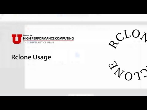 Basic Rclone Usage - YouTube