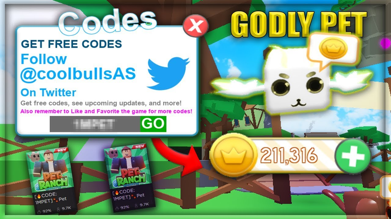 Roblox Code Pet Ranch Simulator Godly Roblox Pet Ranch Simulator Codes Youtube
