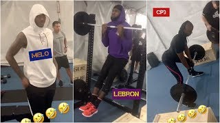 LeBron has intense morning workout with Carmelo Anthony & Chris Paul