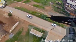 La espectacular persecución en helicóptero a un todoterreno de un narcotraficante