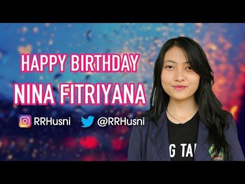 Selamat Ulang Tahun Nina Fitriyana | Happy Birthday Nina Fitriyana