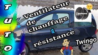 🛠Tuto🛠 remplacer un ventilateur de chauffage 😎 et sa résistance 🔧twingo🔧
