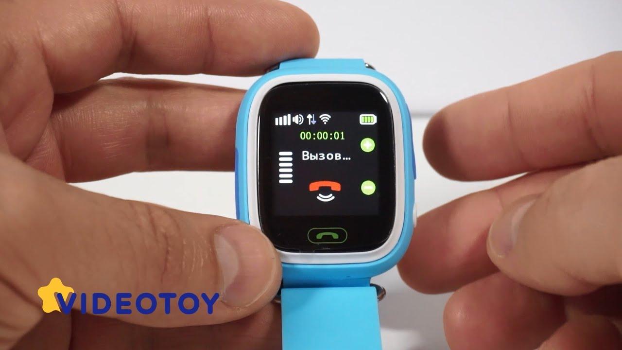 Детские часы GPS трекер с цветным сенсорным экраном Smart Baby Watch Q80 -  Q90 (GW100) - видео обзор 2fa04c702a1