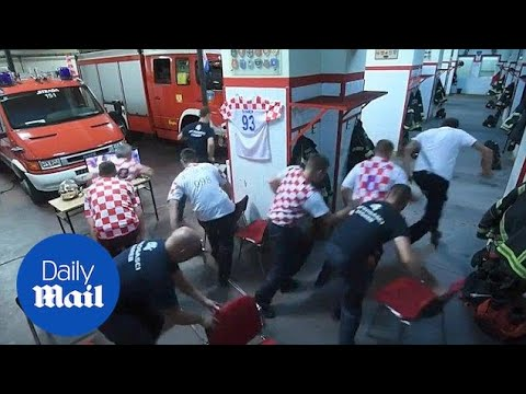 Croatian firefighters on call seconds before winning penalty