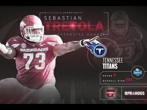 Superstar Offensive Lineman- Sebastian Tretola Arkansas Highlights - HD |Tennessee Titans Draft Pick