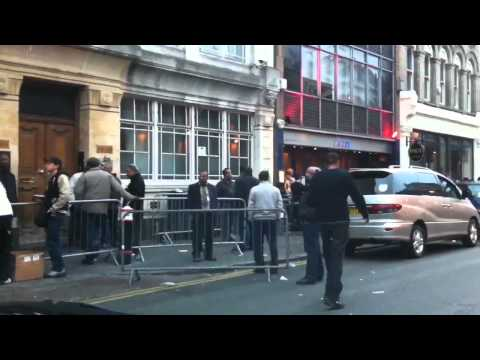 Illegal minicabs touting outside Fabric Club in London