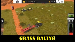 Farming Simulator 18 | GRASS BALING Gameplay #4