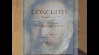 Brahms Violin Concerto in D major op 77 3mv - piano accompaniment